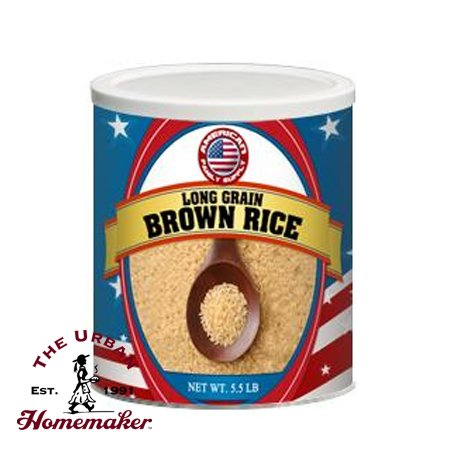 Long Grain Brown Rice Food Storage 10 Cans